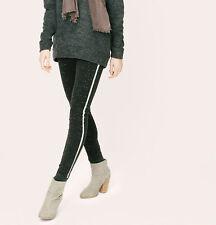 NWT Ann Taylor Loft Lou & Grey Black Space Dye Side Stripe Legging Pants $59 M