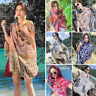 Womens Ethic Geometric Large Scarf Tassel Shawl Bohemia Hijab Pashmina Elegant
