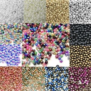 1000x Tiny 3mm Acrylic Faux Pearl Beads for Jewellery Making - Pick Your Colour