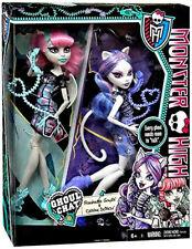 Monster High Ghoul Chat Rochelle Goyle Catrine DeMew 2-pack RARE NIB NEW