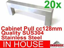 20xCabinetPull12x12H35CC128MM-SatinstainlesssteelSUS304