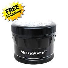 """Sharpstone Grinder V2 Herb & Tobacco (Large) - 2.5"""" in 4-Piece Clear Top Black"""