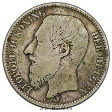 Rare 2 francs 1887 Léopold II (Légende flamande) Belgique - Argent