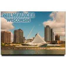 Milwaukee travel souvenir Wisconsin fridge magnet