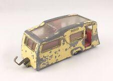Vintage DINKY Nº 117 4 BERTH CARAVAN ORIGINAL Diecast jaune 1963-69