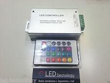 Controller Ricevitore RGB 360W + TELECOMANDO per strisce led RGB 12V 24A strip