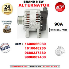 FOR 1608066080 1610048280 9688237380 9806007480 BRAND NEW 90 AMP ALTERNATOR