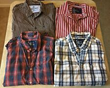 Lot of 4 American Eagle Outfitters Mens Long Sleeved Collared Shirts Size Large