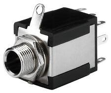 T-638JS 6,3-mm Klinken-Einbaubuchse Stereo Schalter 2 x UM