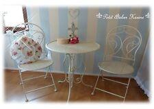 Clayre & Eef Tisch & Stühle Set creme im Shabby Chic, Vintage, Landhausstil