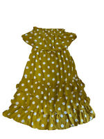 Yours Truly Women's Off The Shoulder Polka A  Dot Layered Top Dress Size 14