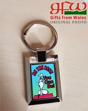 Snoopy - 'be the best you can' - Metal keyring
