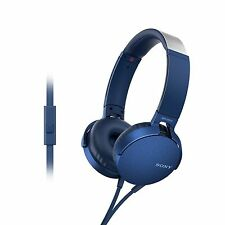 Sony MDR XB550AP | Extra bass | Headphones with Mic Foldable Blue Orginal SMP5