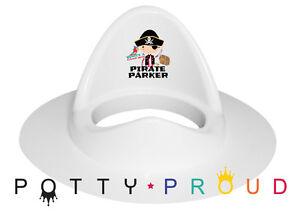 Personalised Pirate Design High Back Toilet Training Seat. Bespoke,Cute Boy Girl