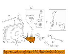 FORD OEM Mustang Radiator Coolant Overflow-Reservoir Expansion Tank 4R3Z8A080AA