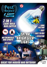 Pest Reject® LED Light & Bug Zapper 2 in 1 Screw (E27 Bulb) In and Out Door New