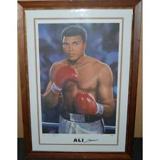 MUHAMMAD ALI HAND SIGNED LIMITED  EDITION PRINT ONLINE AUTHENTICS CERTIFICATE