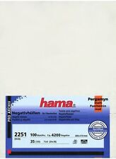 100 Hama Negative Glassine Sleeves Feuillet Museum Quality 135 35mm Film Strip i