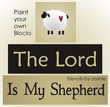Joanie Stencil Lord My Shepherd Prim Sheep Country Christian Folk Art Signs