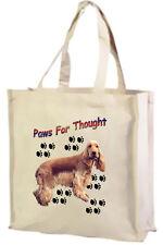 Golden Cocker Spaniel Cotton Shopping Bag, Choice of Colours, black, cream