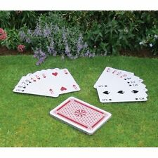 37CM GIANT A3 FULL DECK 52 GARDEN PLAYING CARDS SCHOOL OUTDOOR MAGIC FAMILY PLAY