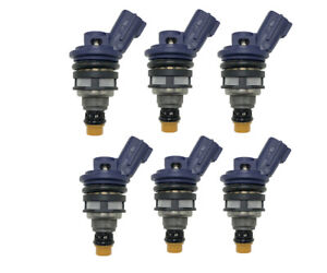6PCS 850cc Side Feed Fuel Injectors for 93-96 NISSAN 300ZX 3.0L E85 Turbo Racing