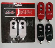 Redline BMX Racing Alloy Chain Tensioners 3/8 inch Silver , Black or Red
