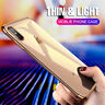 For iPhone XR Xs Max X 8 7 Shockproof Clear Ultra-thin Hybrid Bumper Case Cover