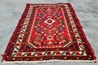 Authentic Hand Knotted Vintage Hamidoun Wool Area Rug 2 x 1 Ft (11252 KBN)