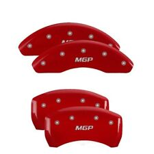 MGP 4 Caliper Covers Engraved Front & Rear MGP Red finish silver ch - mgp19005SM