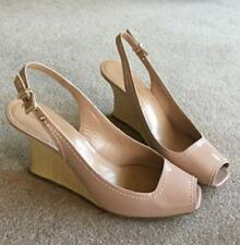 Gorgeous EMPORIO ARMANI 8 (EU 38) Wedge Rose Pink Patent Leather MSRP $440