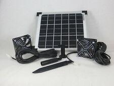 10 Watt Solar Gewächshaus Ventilator m. 2 Lüfter Belüfter Belüftung Gebläse NEU