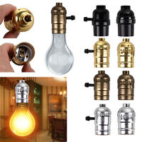 Edison E26/E27 Screw Light Bulb Lamp Holder Retro Pendant Socket Accessories