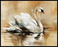 Swan Lake 3 -Chart Counted Cross Stitch Pattern Needlework Xstitch craft DIY DMC