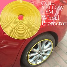 8M Car Wheel Rims Protector Tire Guard Motors Line Rubber Moulding YELLOW 22inch