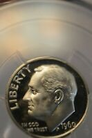 PR68DCAM 1960 SILVER ROOSEVELT DIME PCGS GRADED PROOF FROSTED DEEP CAMEO COIN