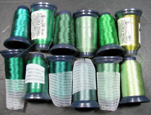 12xMachine Sewing THREAD FLORIANI Embroidery polyester 1000m spool-greens-ZZ94