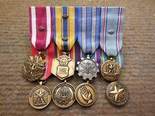 Vintage Usaf Miniature Medal Bar w/ 8 Medals