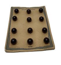 Lot 12 Dark Brown Styled Dress Bakelite Buttons