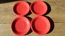 4 Fiestaware 7.25 inch Plates Red