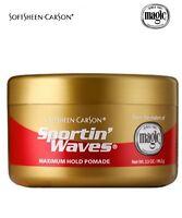 2 X SPORTIN WAVES HAIR MAXIMUM HOLD POMADE GOLD 3.5oz