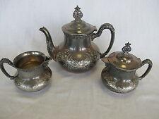 Homan Silverplate Quadruple Plate Coffee or Tea Pot Set