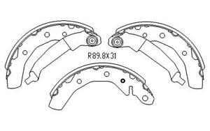 RDA REAR BRAKE DRUM SHOES for Proton Savvy BT 1.1L Hatch FWD 4/2006-8/2012 R2002