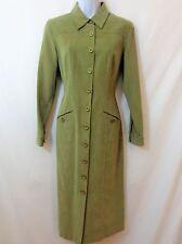 TALBOTS Womens Green Corduroy Button Front Dress Size 4