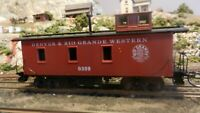 Roundhouse MDC HO Old Time Caboose, Rio Grande , Upgraded, Exc.