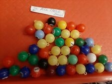 VINTAGE GUMBALL/VENDING POOL TABLE BALL CHARMS LOT OF 45