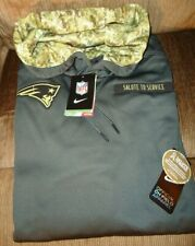 NEW ENGLAND PATRIOTS SALUTE TO SERVICE NIKE PULLOVER HOODIE SIZE 3-XL NEW/TAGS