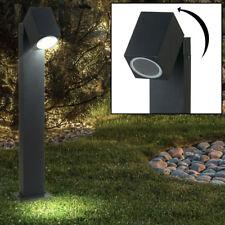 ALU Außen Weg Beleuchtung Steh Lampe Strahler schwenkbar Einfahrt Stand Leuchte