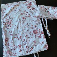 IKEA Duvet PAIR Shams Alvine Skon White Red Floral Full/Queen  82 X 82