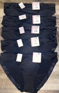 Secret Treasures ~ 5-Pair Womens Bikini Underwear Panties Nylon Blend ~ L